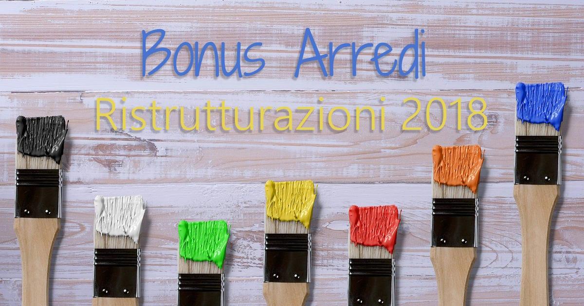 BONUS ARREDI - RISTRUTTURAZIONE 2018