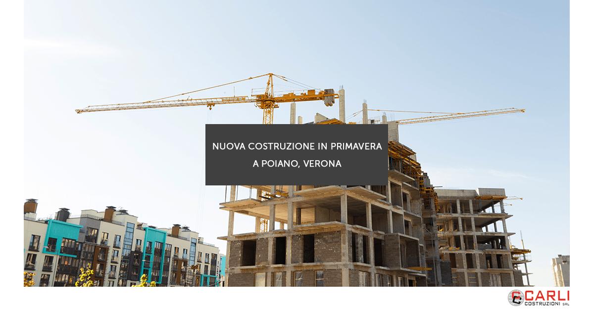 Nuova costruzione in primavera a Poiano, Verona
