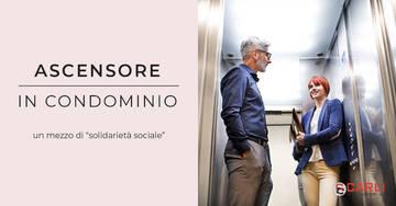 Quando l'ascensore in condominio diviene mezzo di solidarietà sociale